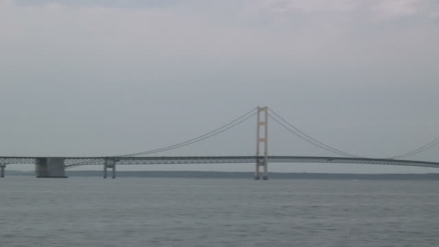 Mackinac bridge 1 - HD 1080/60i video