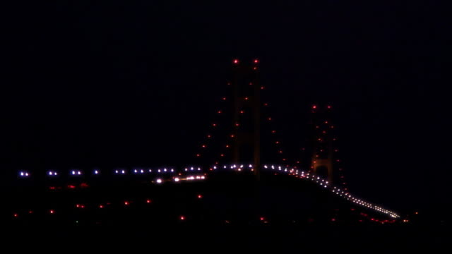 Mackinac Bridge at Night 13N