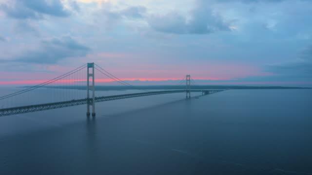 Mackinac Bridge Michigan Drone Aerial Number 2 video