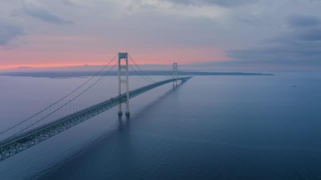 Mackinac Bridge Michigan Drone Aerial Number 3 video