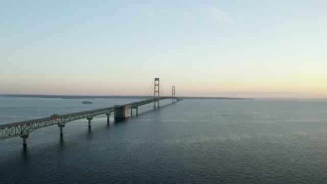 Mackinac Bridge Michigan Drone Aerial Number 4 video