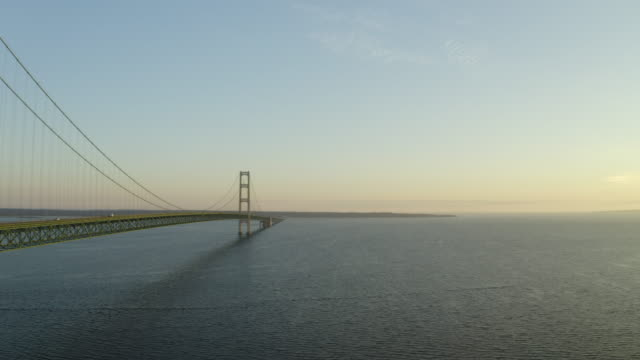 Mackinac Bridge Michigan Drone Aerial Number 6 video