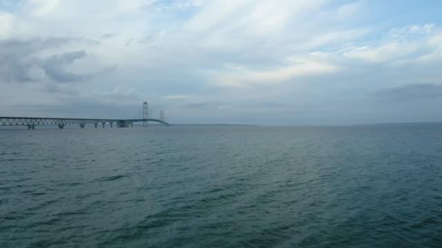Mackinac Bridge Michigan Drone Aerial Number 7 video
