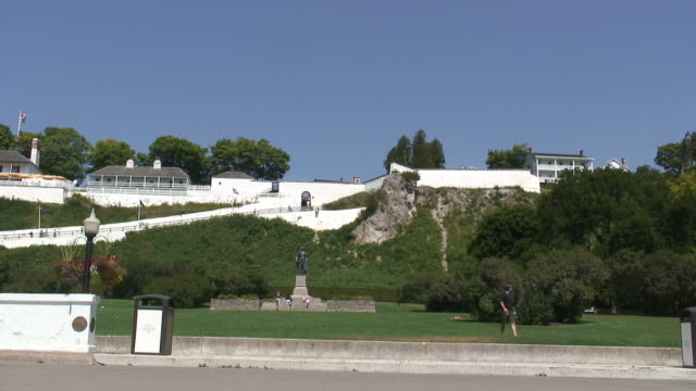 Mackinac fort 3 - HD 1080/60i Front view at the Mackinac fort fort stock videos & royalty-free footage