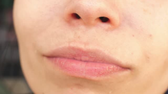 Sucking lip Cock sucking