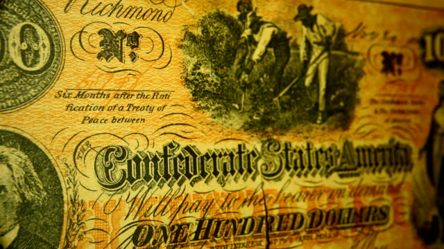macro: confederate 100 dollar bill