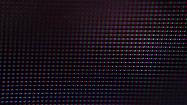 Macro Pixels on a LCD Screen, TV or Computer Screens video