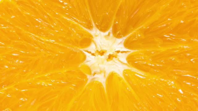 Macro shot of orange slice texture background