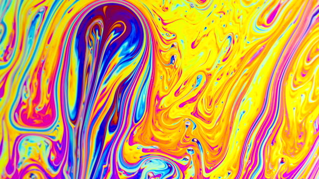 Macro Soap Bubble Colorful Psychedelic
