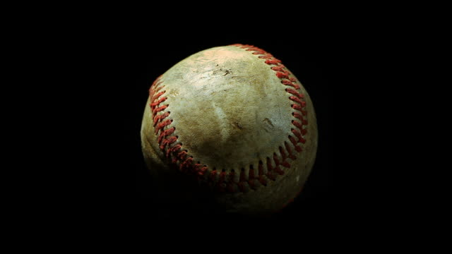 Macro spinning baseball video