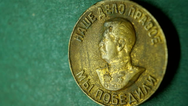 macro: stalin brass medal