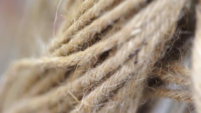 4K Macro Video of Natural rope.