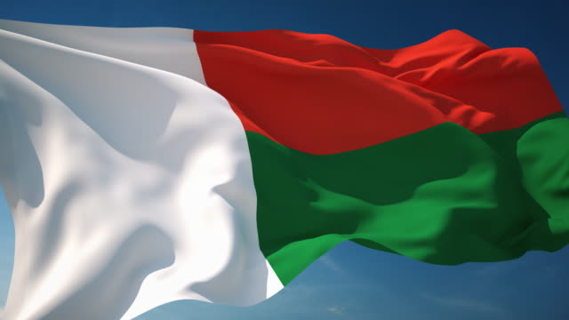 4 K Madagaskar Flagge-Endlos wiederholbar – Video