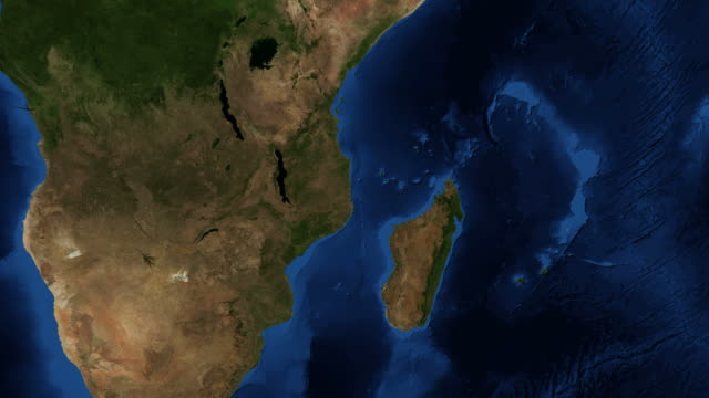Madagascar from space - zoom Madagascar, officially the Republic of Madagascar and previously known as the Malagasy Republic, is an island country in the Indian Ocean, off the coast of Southeast Africa. madagascar stock videos & royalty-free footage