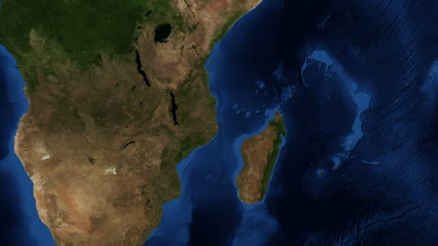 madagascar from space - zoom - madagaskar bildbanksvideor och videomaterial från bakom kulisserna