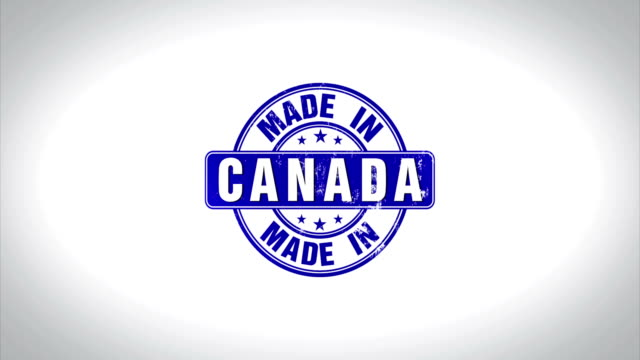 Made in Canada Word 3D Animated Wooden Stamp Animation video