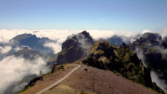 Madeira island mountains timelapse