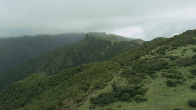 Madeira mountains Madeira aerial mountains funchal stock videos & royalty-free footage