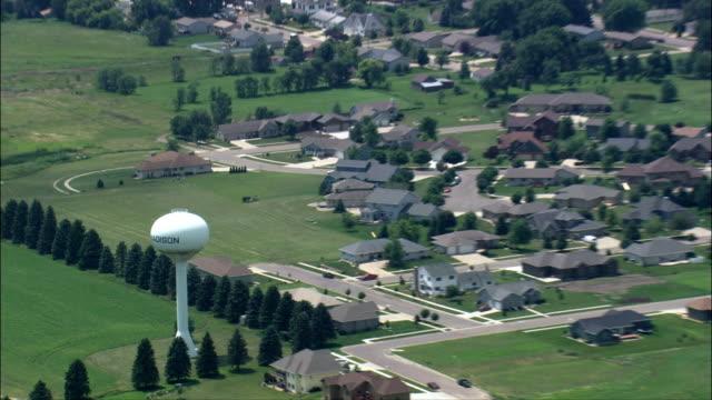 Madison  - Aerial View - South Dakota, Lake County, United States video