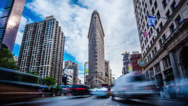 Timelapse Madison Square Flatiron New York 4K - Vidéo