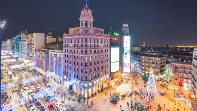 Madrid callao Square at night