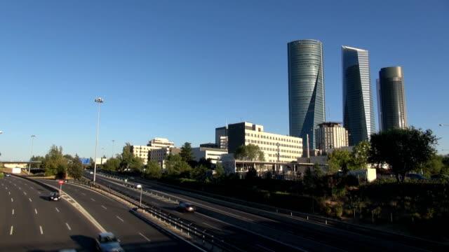 Madrid city highway video