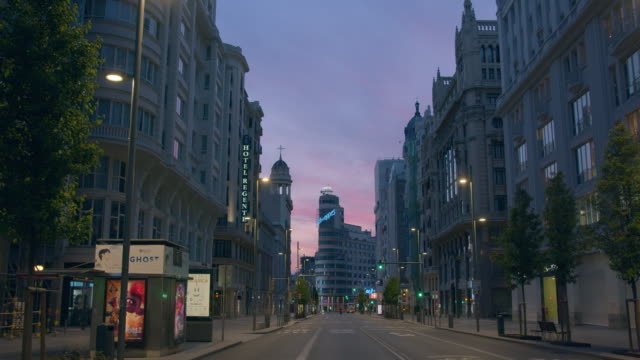madrid empty great schweeps building - madrid video stock e b–roll