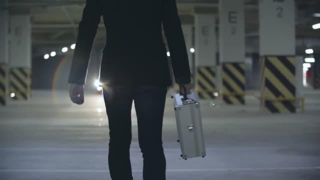 Mafia Man Walking Towards Car video