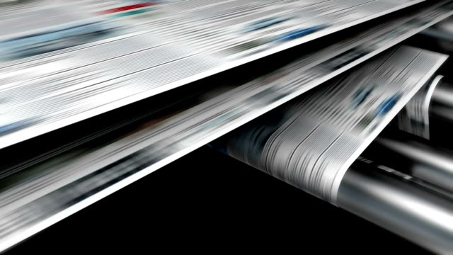 Magazine or newspaper printing loop. video