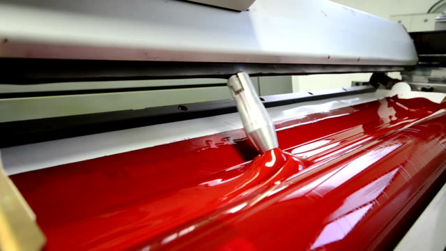 magenda, red on the offset print press machine perspective - lithograph stock videos & royalty-free footage