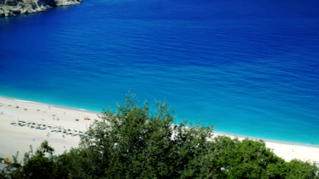 Magic beach with turquoise blue sea video