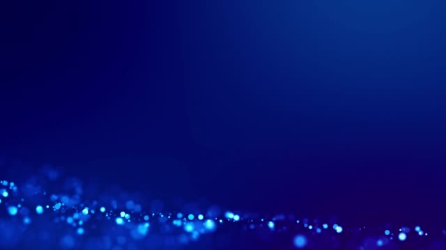 magic blue glowing particles flow in viscous liquid and bright glisten. science fiction. 4k 3d sci-fi background with glittering particles, depth of field and bokeh. luma matte as alpha channel. 7 - soft focus video stock e b–roll