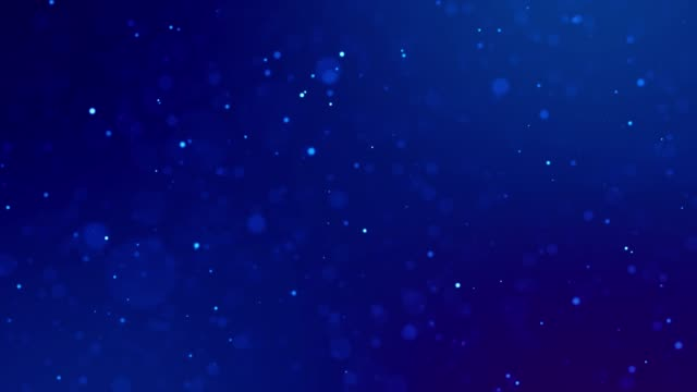 Magic blue glowing particles flow in viscous liquid and bright glisten. Science fiction. 4k 3d sci-fi background with glittering particles, depth of field and bokeh. Luma matte as alpha channel. video