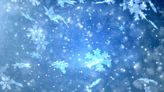 Magic Christmas snowflakes falling