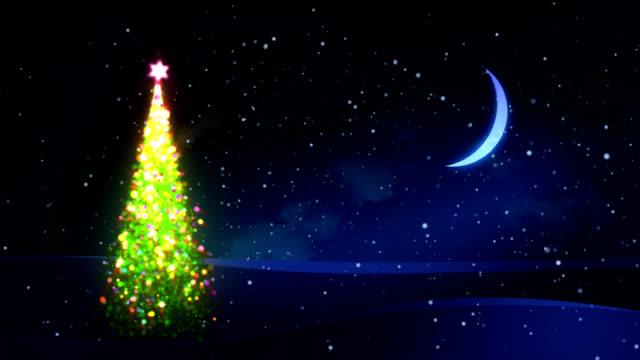 Magic Christmas tree. video