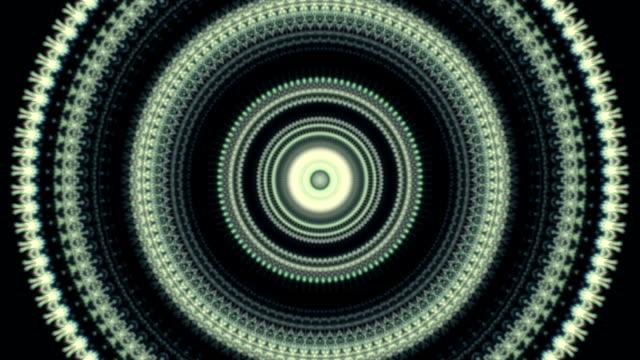 Magic circle kaleidoscopic pattern. video
