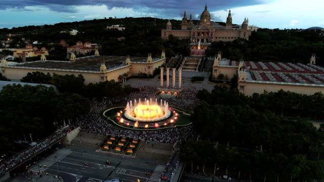 Fuente mágica en Barcelona - vídeo
