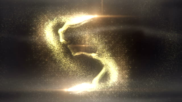 Magic Particles (gold) - Loop Animation of magic particles flying in front of grey background. Seamlessly loopable. Perfectly usable for a big variety of topics. Created in Adobe After Effects, rendered at 32 bits per color. fairy stock videos & royalty-free footage