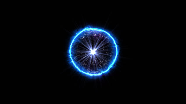 magic power energy tech ball - reattore - atomo nucleare - ciclo infinito - reattore nucleare video stock e b–roll