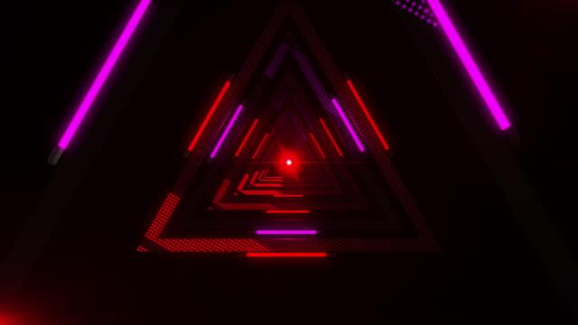 魔法の三角形、無限のトンネル、vj ループ ビデオ