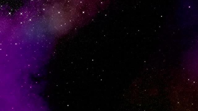 magic universe - cielo stellato video stock e b–roll