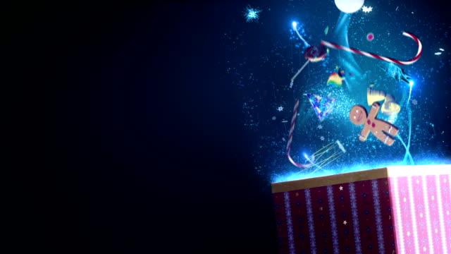 魔法のようなクリスマスギフト - 贈り物点の映像素材/bロール