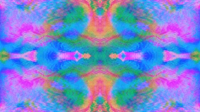 magico glitch imitazioni di luce trasformazioni di luce scintillante sfondo - caleidoscopio motivo video stock e b–roll