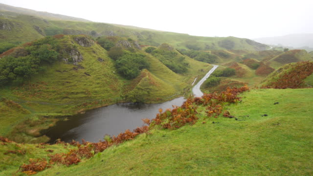 Magical Hills of Fairy Glen in Skye Isle in Scotland Magical Hills of Fairy Glen in Skye Isle in Scotland fairy stock videos & royalty-free footage