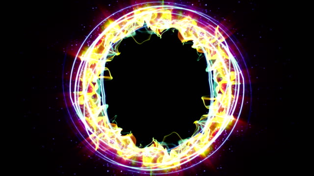 Magical Particles Ring Abstract Background, Animation, Rendering, Loop