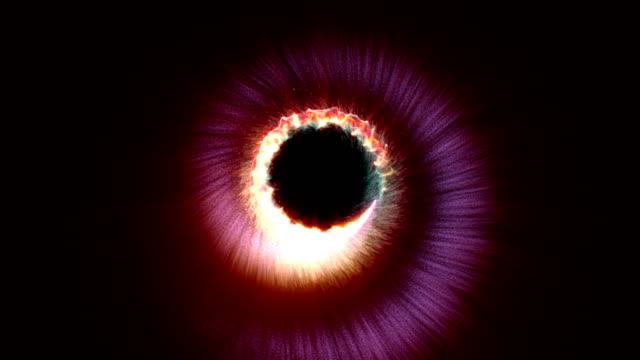 vídeos de stock, filmes e b-roll de as partículas mágicas anel abstrato, animação - organic shapes