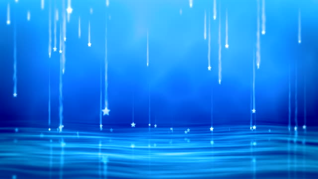 Magical Stars Falling Particle animation of 3d stars falling with magical tails. Seamless loopable animation. dark blue stock videos & royalty-free footage