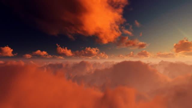 magisk solnedgång över timelapse moln - himlen bildbanksvideor och videomaterial från bakom kulisserna