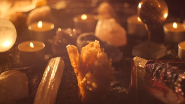 Magical voodoo witchcraft satanist spells with crystal ball video