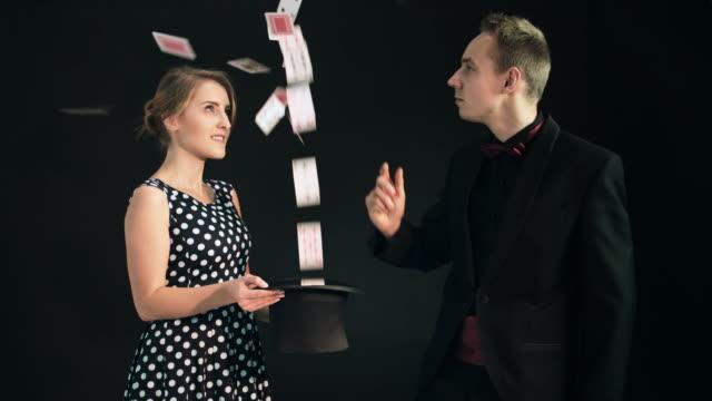Magician card trick video